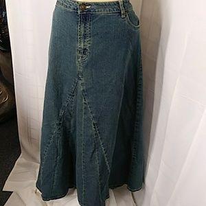 Jessica London Denim Skirt